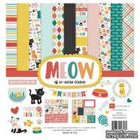 Набор бумаги от Echo Park - Meow, 30х30 см, 12 листов + 1 лист наклеек