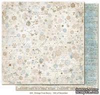 Двусторонний лист скрапбумаги от Maja Design - Vintage Frost Basics - 10th of Dec