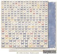 Двусторонний лист бумаги для скрапбукинга от Maja Design - Coffee in the Arbour - White Daisies, 30x30 см
