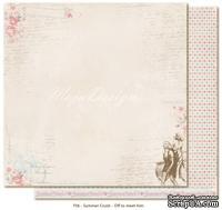 Двусторонний лист бумаги для скрапбукинга от Maja Design - Summer Crush - Off to meet him, 30x30 см