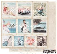 Двусторонний лист бумаги для скрапбукинга от Maja Design - Summer Crush - Snapshots, 30x30 см