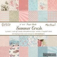 Набор бумаги для скрапбукинга от Maja Design - Summer Crush Paper stack 6x6, 24 листа, 15х15 см
