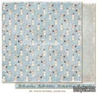 Лист двусторонней скрапбукинга от Maja Design - Love the snow, 30 x 30 см