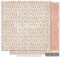Лист двусторонней скрапбукинга от Maja Design -Home for the Holidays - Brought y a gift, 30 x 30 см