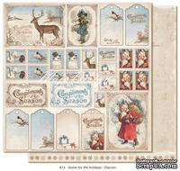 Лист двусторонней скрапбукинга  от Maja Design - Brought y a gift, 30 x 30  см