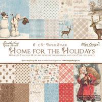 Набор двусторонней скрапбумаги от Maja Design - Home for the Holidays - Paper stack, 15,2 x 15,2 см, 36 шт