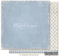 Лист двусторонней скрапбумаги от Maja design - Vintage Baby - Welcome Little one,30х30 см