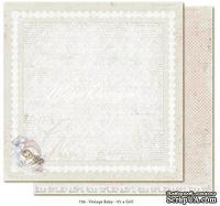 Лист двусторонней скрапбумаги от Maja design - Vintage Baby - It's a girl,30х30 сма
