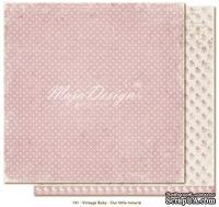 Лист двусторонней скрапбумаги от Maja design - Vintage Baby - Our Little miracle,30х30 см