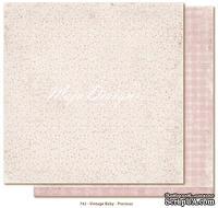 Лист двусторонней скрапбумаги от Maja design - Vintage Baby - Precious,30х30 см