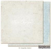 Лист двусторонней скрапбумаги от Maja design - Vintage Baby - Newborn,30х30 см