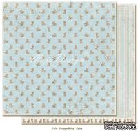 Лист двусторонней скрапбумаги от Maja design - Vintage Baby - Cutie,30х30 см