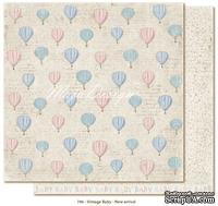 Лист двусторонней скрапбумаги от Maja design - Vintage Baby - New arrival,30х30 см