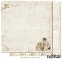 Лист двусторонней скрапбумаги от Maja design -Vintage Baby - Special moment,30х30 см