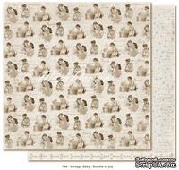 Лист двусторонней скрапбумаги от Maja design -Vintage Baby - Bundle of joy,30х30 см