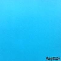 Дизайнерский картон с гладкой фактурой Malmero arctique, размер: 30х30, цвет: голубой, 250 г/м2, 1 шт
