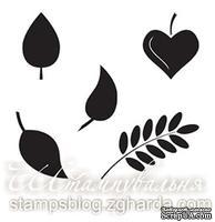 Набор мини-штампов N016b Листья, 5 штук