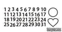 Акриловый штам  N025 Цифры 1-31, размер 6,7х2,4 см