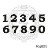 Акриловый штамп Lesia Zgharda N045 Цифры, набор из 10 штампов, высота цифр 2 см