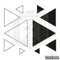 Акриловый штамп Lesia Zgharda N051 Треугольники, набор из 10 штампов
