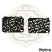 Набор акриловых штампов Lesia Zgharda N062 LOVE + FRIENDS