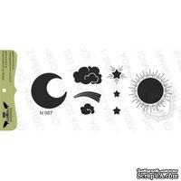 Набор акриловых штампов Lesia Zgharda N087 Солнце,луна,звезды, облака