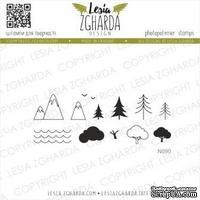 Набор акриловых штампов Lesia Zgharda Дорожні краєвиди N090