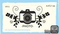 Штампы от Cherrylana -PHOTO-, с цветами, 4,4х2,1 см