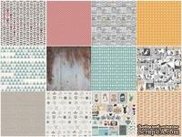 Набор односторонней скрапбумаги от Каралики - Hipster, 30х32см, 12 листов, 200г/м2