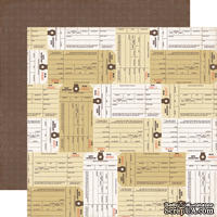 Лист скрапбумаги от Echo Park - Inventory paper - двусторонняя, 30х30 см
