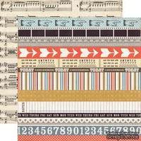 Лист скрапбумаги от Echo Park - BORDERS - двусторонняя, 30х30 см