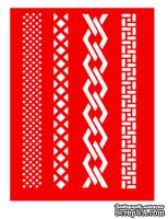 Трафарет - Бордюры4, 15*20см