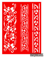 Трафарет - Бордюры5, 15*20см