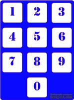 Трафарет - Набор цифр вечный каленарь, 15*20см