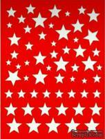 Трафарет - Фон звезды 5, 15*20см