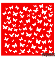 Трафарет - Фон бабочки, 18*18см
