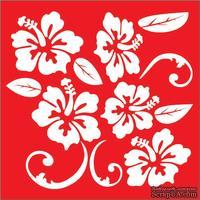 Трафарет - Цветы1, 18*18см