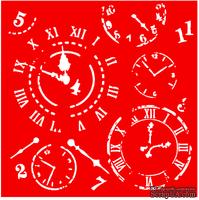 Трафарет - Часы, 18*18см