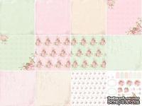 Набор односторонней скрапбумаги от Каралики - Мятная нежность, 30х32см, 12 листов, 190 г/м2