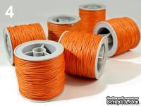 Вощеный шнур, 1 мм, цвет светло-оранжевый, 5 метров - ScrapUA.com