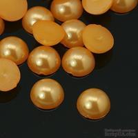 Полужемчужинки Gold, 4x2мм, цвет золотой, 50 шт.