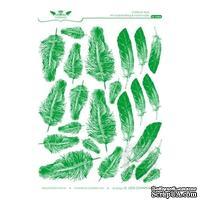 Оверлей Lesia Zgharda OF04004 Перышки, цвет зеленый,размер 15х21 см.