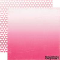 Лист скрапбумаги от Echo Park - Hot Pink Ombre, 30х30 см