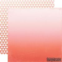 Лист скрапбумаги от Echo Park - Orange Ombre, 30х30 см
