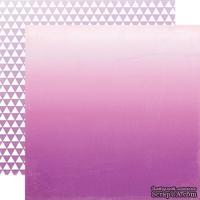 Лист скрапбумаги от Echo Park - Purple Ombre, 30х30 см
