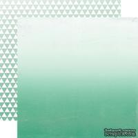 Лист скрапбумаги от Echo Park - Teal Ombre, 30х30 см