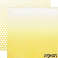Лист скрапбумаги от Echo Park - Yellow Ombre, 30х30 см