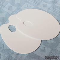 Палитра плоская платстиковая, овальная, 16,5х21,5 см