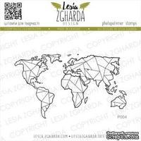 Акриловый штамп Lesia Zgharda Карта велика P004