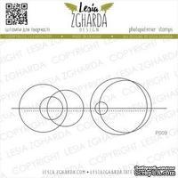 Акриловый штамп Lesia Zgharda Геометрична абстракція P009